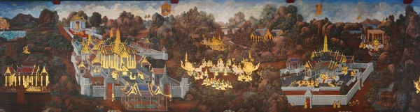 Panorama of Painting in Grand Palace