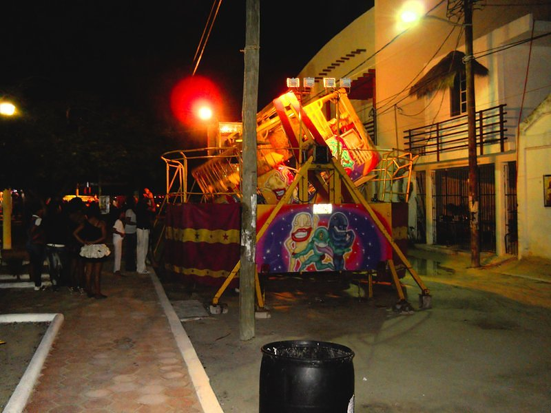Carnival Ride in Downtown Holbox