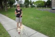 Ashley and Waldo the dog