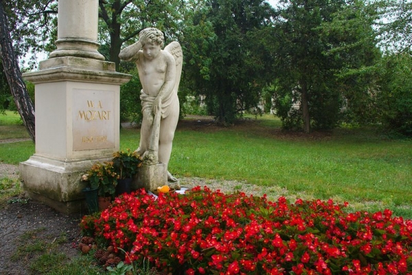 Mozart's Grave at St. Marxer Friedhof