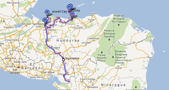 Traveled Earth Honduras Roundup - Nicaragua map honduras
