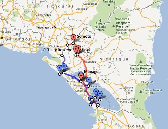 Nicarauga Route