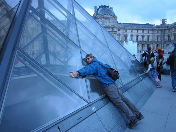 Showing some pyramid love at the Louvre