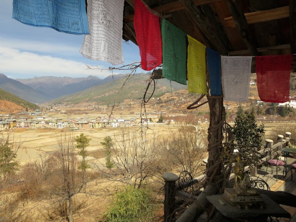Prayer flags overlooking Paro valley