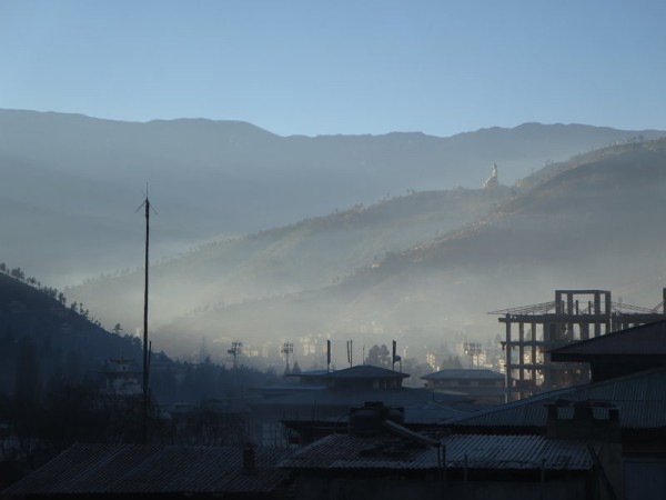Early morning view of Thimpu's hills