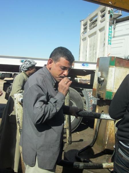 Smoking at Gas Station