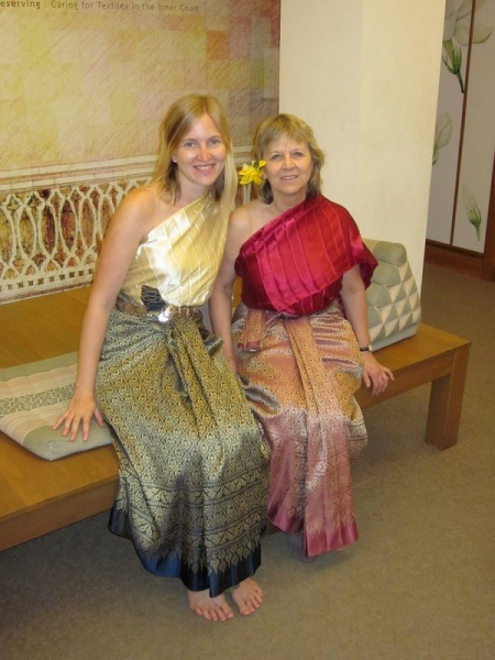 Mom and I in Traditional Thai Dress