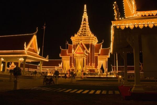 Well lit Pagoda