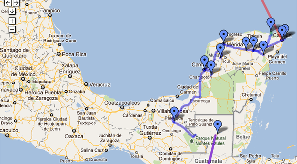 Mexico Route