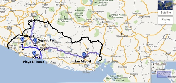 El Salvador Route