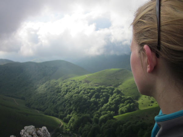 Looking out over the Pyrenees