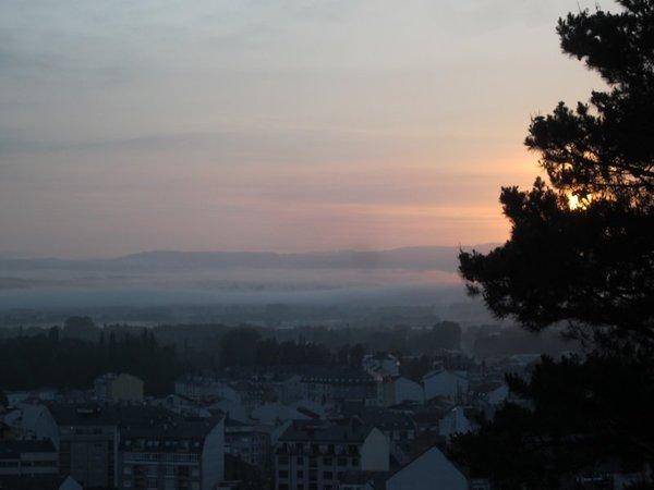 Sunrise over Sarria