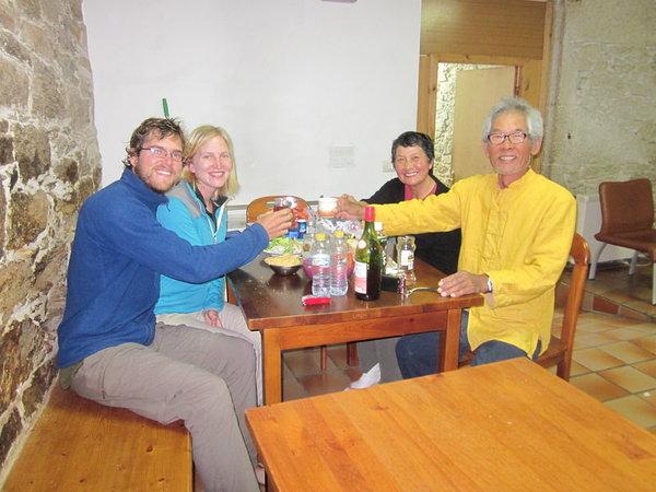 Celebrating with Yoshihiro and Miyoko