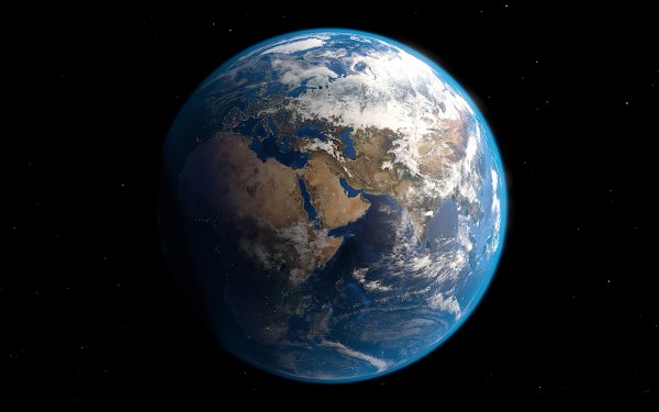 Feel free to make this your desktop background. The Earth made using blender.