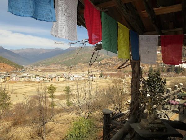 Prayer flags overlooking Paro valley
