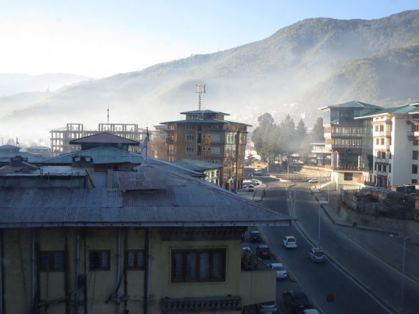 Early morning view from our Thimpu hotel